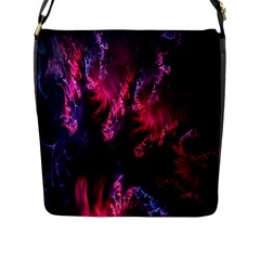 Abstract Fractal Background Wallpaper Flap Messenger Bag (l)