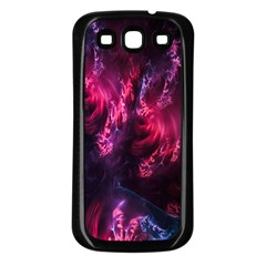 Abstract Fractal Background Wallpaper Samsung Galaxy S3 Back Case (Black)