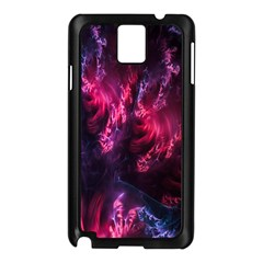 Abstract Fractal Background Wallpaper Samsung Galaxy Note 3 N9005 Case (Black)