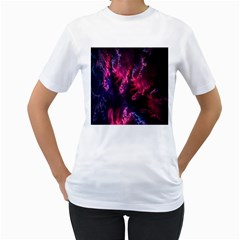 Abstract Fractal Background Wallpaper Women s T-Shirt (White)