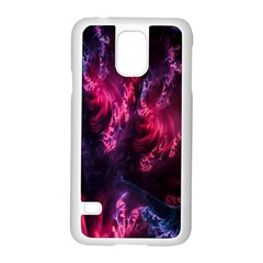 Abstract Fractal Background Wallpaper Samsung Galaxy S5 Case (White)