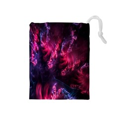 Abstract Fractal Background Wallpaper Drawstring Pouches (Medium)