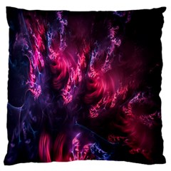 Abstract Fractal Background Wallpaper Large Flano Cushion Case (One Side)
