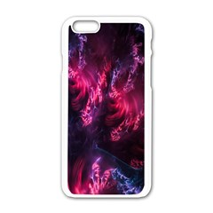 Abstract Fractal Background Wallpaper Apple iPhone 6/6S White Enamel Case