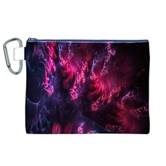 Abstract Fractal Background Wallpaper Canvas Cosmetic Bag (XL)