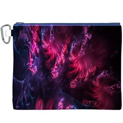 Abstract Fractal Background Wallpaper Canvas Cosmetic Bag (xxxl)
