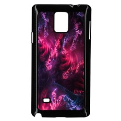 Abstract Fractal Background Wallpaper Samsung Galaxy Note 4 Case (black)
