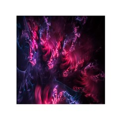 Abstract Fractal Background Wallpaper Small Satin Scarf (square)