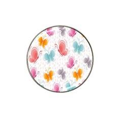 Butterfly Pattern Vector Art Wallpaper Hat Clip Ball Marker (4 pack)