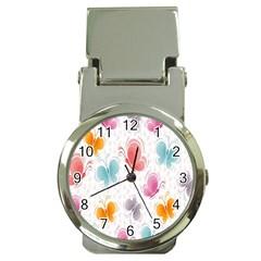 Butterfly Pattern Vector Art Wallpaper Money Clip Watches