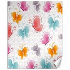 Butterfly Pattern Vector Art Wallpaper Canvas 11  x 14
