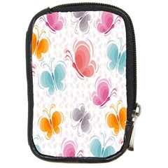 Butterfly Pattern Vector Art Wallpaper Compact Camera Cases