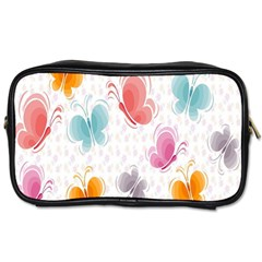 Butterfly Pattern Vector Art Wallpaper Toiletries Bags 2 Side