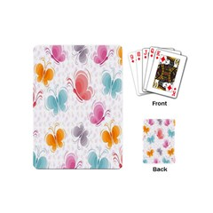 Butterfly Pattern Vector Art Wallpaper Playing Cards (mini)