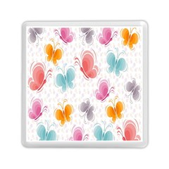 Butterfly Pattern Vector Art Wallpaper Memory Card Reader (square)