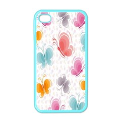 Butterfly Pattern Vector Art Wallpaper Apple iPhone 4 Case (Color)