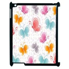 Butterfly Pattern Vector Art Wallpaper Apple Ipad 2 Case (black)