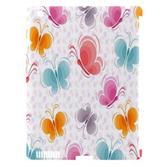 Butterfly Pattern Vector Art Wallpaper Apple iPad 3/4 Hardshell Case (Compatible with Smart Cover)