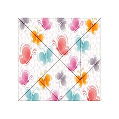 Butterfly Pattern Vector Art Wallpaper Acrylic Tangram Puzzle (4  x 4 )