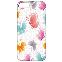 Butterfly Pattern Vector Art Wallpaper Apple iPhone 5 Classic Hardshell Case