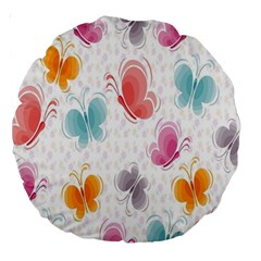 Butterfly Pattern Vector Art Wallpaper Large 18  Premium Round Cushions