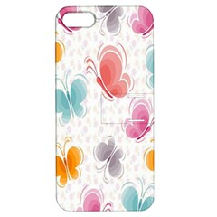 Butterfly Pattern Vector Art Wallpaper Apple iPhone 5 Hardshell Case with Stand