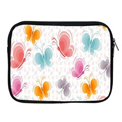 Butterfly Pattern Vector Art Wallpaper Apple iPad 2/3/4 Zipper Cases