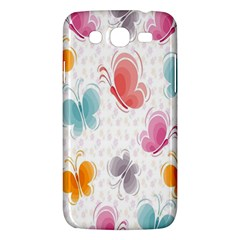 Butterfly Pattern Vector Art Wallpaper Samsung Galaxy Mega 5.8 I9152 Hardshell Case