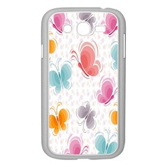 Butterfly Pattern Vector Art Wallpaper Samsung Galaxy Grand DUOS I9082 Case (White)
