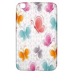Butterfly Pattern Vector Art Wallpaper Samsung Galaxy Tab 3 (8 ) T3100 Hardshell Case