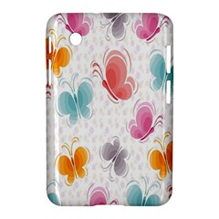 Butterfly Pattern Vector Art Wallpaper Samsung Galaxy Tab 2 (7 ) P3100 Hardshell Case