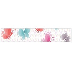Butterfly Pattern Vector Art Wallpaper Flano Scarf (large)
