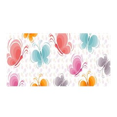Butterfly Pattern Vector Art Wallpaper Satin Wrap