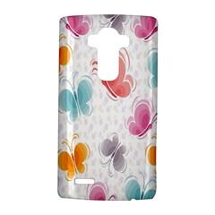 Butterfly Pattern Vector Art Wallpaper Lg G4 Hardshell Case