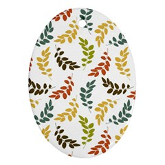 Colorful Leaves Seamless Wallpaper Pattern Background Ornament (oval)