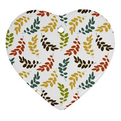 Colorful Leaves Seamless Wallpaper Pattern Background Ornament (Heart)