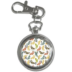 Colorful Leaves Seamless Wallpaper Pattern Background Key Chain Watches