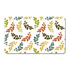 Colorful Leaves Seamless Wallpaper Pattern Background Magnet (rectangular)