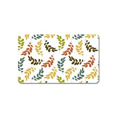 Colorful Leaves Seamless Wallpaper Pattern Background Magnet (name Card)