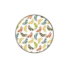 Colorful Leaves Seamless Wallpaper Pattern Background Hat Clip Ball Marker (10 pack)