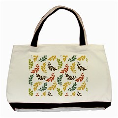 Colorful Leaves Seamless Wallpaper Pattern Background Basic Tote Bag