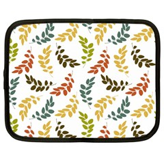 Colorful Leaves Seamless Wallpaper Pattern Background Netbook Case (large)