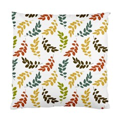 Colorful Leaves Seamless Wallpaper Pattern Background Standard Cushion Case (one Side)