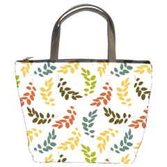 Colorful Leaves Seamless Wallpaper Pattern Background Bucket Bags