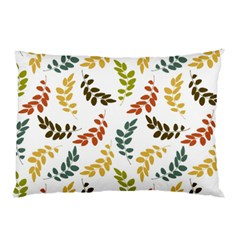 Colorful Leaves Seamless Wallpaper Pattern Background Pillow Case