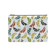 Colorful Leaves Seamless Wallpaper Pattern Background Cosmetic Bag (medium)