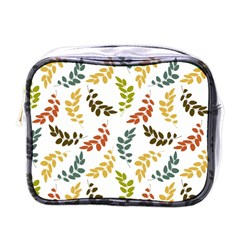 Colorful Leaves Seamless Wallpaper Pattern Background Mini Toiletries Bags