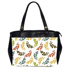 Colorful Leaves Seamless Wallpaper Pattern Background Office Handbags (2 Sides)