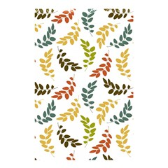 Colorful Leaves Seamless Wallpaper Pattern Background Shower Curtain 48  X 72  (small)