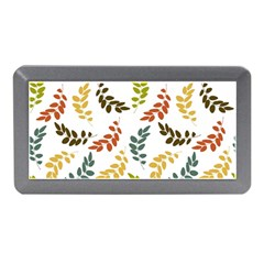 Colorful Leaves Seamless Wallpaper Pattern Background Memory Card Reader (Mini)